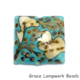 11811804 - Turquoise/Ivory & Beige Pillow Focal Bead
