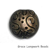 11813402 - Golden Pearl Surface w/Black Lentil Focal Bead