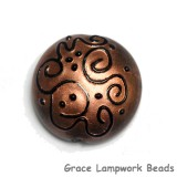 11813602 - Copper Pearl w/Black Swirl Lentil Focal Bead