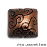 11813604 - Copper Pearl w/Black Swirl Pillow Focal Bead