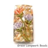 11815003 - Light Pink w/Purple Floral Kalera Focal Bead