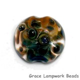 11817902 - Blue & Orange Lentil Focal Bead