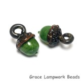 11821519 - Green Grass Acorn Earring Set