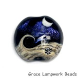 11833002 - Indigo Night Celestial Lentil Focal Bead