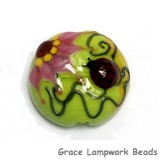 11833102 - Ladybug on Spring Green Lentil Focal Bead