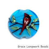 11834502 - Summer Red Cardinal Lentil Focal Bead
