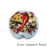 11834602 - Autumn Red Cardinal Lentil Focal Bead