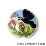 11835002 - Blue Sparkle Garden Butterfly Lentil Focal Bead