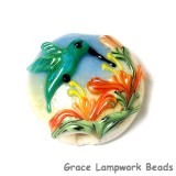 11836202 - Hawaiian Hummingbird Lentil Focal Bead