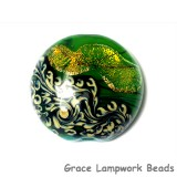 11836302 - Herbal Garden Shimmer Lentil Focal Bead