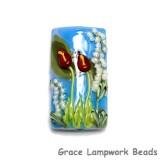 11837803 - Red Calla Lily Lake Kalera Focal Bead