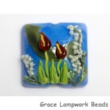 11837804 - Red Calla Lily Lake Pillow Focal Bead