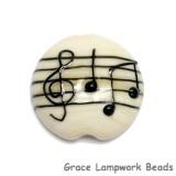 11838802 - Musical Notes Lentil Focal Bead