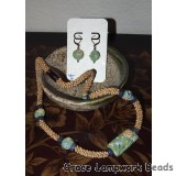 LC-Garden Path Kumihimo Necklace and Earring Set
