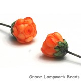GHP-02: Orange Floral Headpin