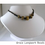 LC-Graduated Beads with Black Onyx Rounds Necklace