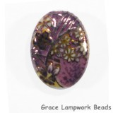 HA011824 - 18x24mm Porcelain Puffed Oval Lavender/Floral
