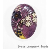 HA013040 - 30x40mm Porcelain Puffed Oval Lavender/Floral