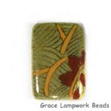 HA031824 - 18x24mm Porcelain Puffed Rectangle Sage Green