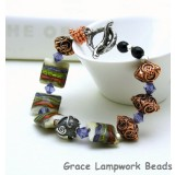 LC-10407811 - Metallic Murano Sterling Silver Copper Bracelet