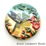 PH013600 - 36mm Porcelain Disk Hummingbird