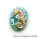 PM021824 - 18x24mm Porcelain Puffed Oval Seahorse