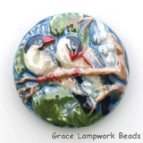 PR032400 - 24mm Porcelain Disk Twin Birds