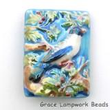 PR041824 - 18x24mm Porcelain Puffed Rectangle Bird #4