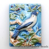 PR043040 - 30x40mm Porcelain Puffed Rectangle Bird #4