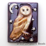 PW093040 - 30x40mm Porcelain Puffed Rectangle Owl #9