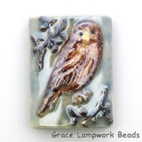 PW101824 - 18x24mm Porcelain Puffed Rectangle Owl #10