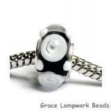 SC10001 - Large Hole Black/White Rondelle Bead