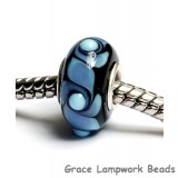 SC10025 - Large Hole Blue w/Black Rondelle Bead