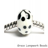SC10054 - Large Hole Ivory w/Black Rondelle Bead