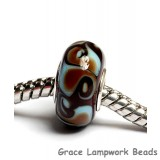 SC10061 - Large Hole Turquoise & Chocolate Brown Rondelle Bead