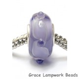 SC10073 - Large Hole Light Purple w/Dot Rondelle Bead