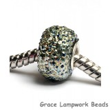SC10087 - Large Hole Light Blue Metallic Rondelle Bead
