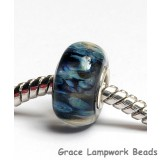 SC10091 - Large Hole Black w/Blue Boro Rondelle Bead
