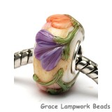 SC10105 - Large Hole Purple w/Orange Flora Rondelle Bead