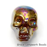 Skull04 - Honey Luster Focal Bead