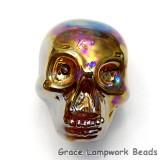 Skull04 - Honey Luster Focal Bead