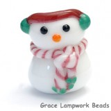 Snowman Focal Bead