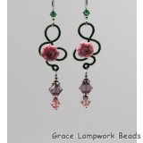 LC-Marose Earrings with Pink Headpins