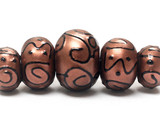11204411 - Five Grad Copper Pearl Surface w/Black Rondelle Beads