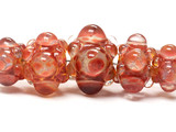 10704611 - Five Graduated Orange Rondelle Beads