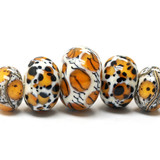 10302611 - Five Graduated Animal Print Rondelle Beads