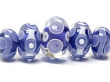 10402411 - Five Graduated Ink Blue w/White Rondelle Beads