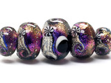 10706311 - Five Graduated Amethyst Jewel Celestial Rondelle Beads