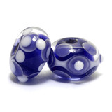 10402401 - Seven Ink Blue w/White Rondelle Beads