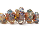 10902711 - Five Graduated Multi-Colored Rondelle Beads